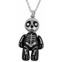 JNK30   Rhodium Plated Flexible Zombie Pendant Jewelari of London